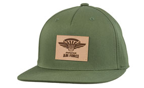 Innova Air Force Leather Patch Flatbill Cap